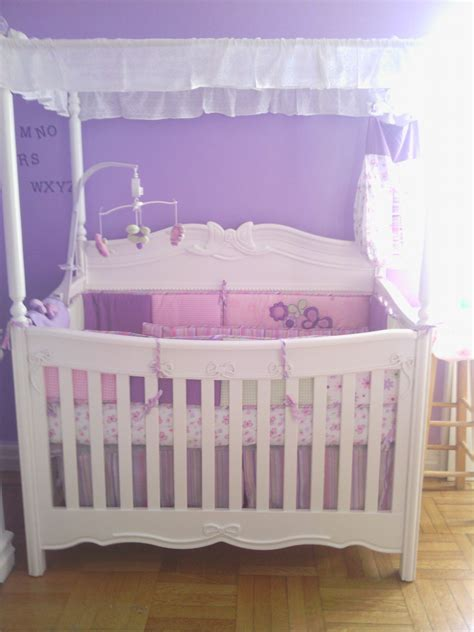 my babys princess white canopy convertible crib nursery