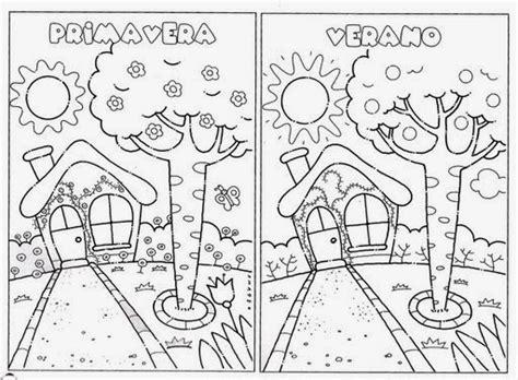 imagenes para colorear las estaciones del año las 4 estaciones del a 241 o para colorear imagui