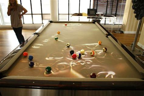 Water Pool Table by Above One Hundred Thousand Dollars Obsura Cuelight Pool