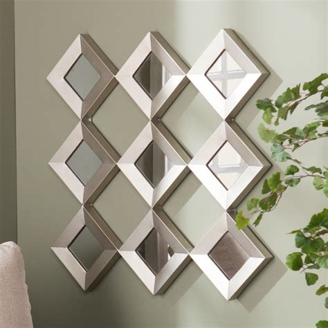 wall decor mirror home accents upton home diamante mirrored squares wall sculpture