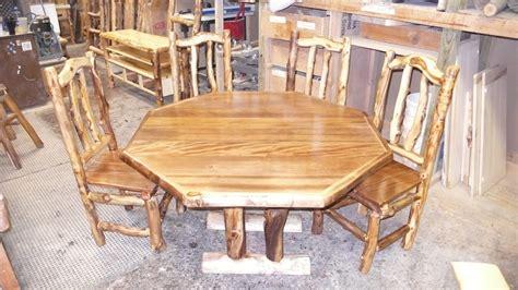 douglas fir dining table octagonal douglas fir and aspen log dining table