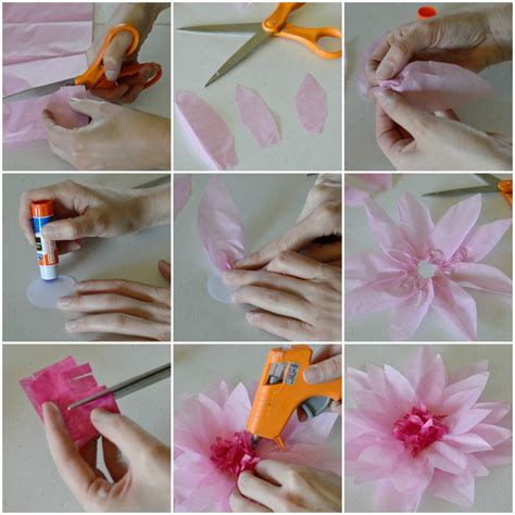 How To Make Small Flowers Out Of Tissue Paper - diy tissue paper flowers my crafty spot when gets