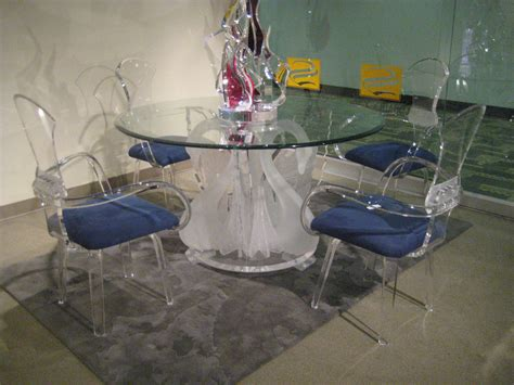 clear plastic table top acrylic clear legend swan round dining table with glass top