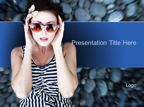 Free Fashion Girl Ppt Template Fashion Powerpoint Templates Free