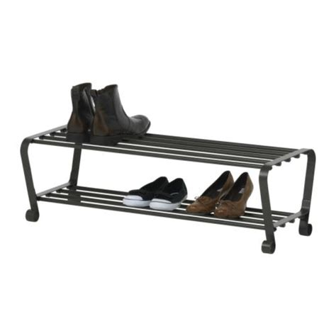 metal rack ikea ikea portis black metal shoe rack new 800 997 90 ebay
