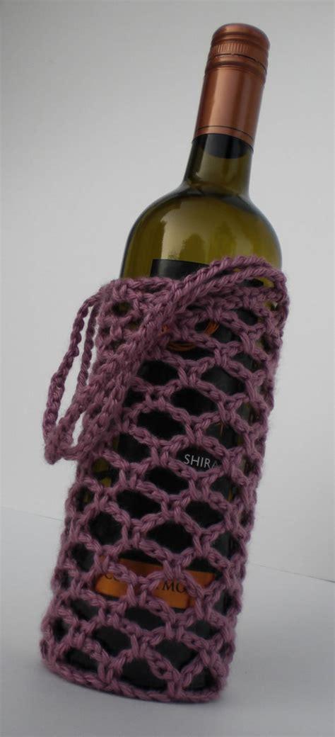 crochet pattern bottle holder crochet wine bottle holder drunken mosquito wine by