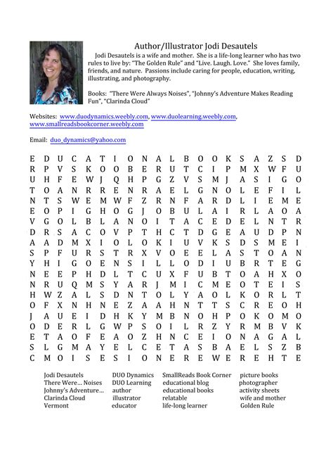Search Book Authors And Illustrators Join The In A Word Search Book Smallreads Book Corner