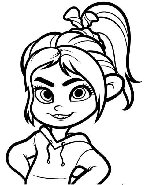 wreck it ralph friend vanellope von schweets coloring