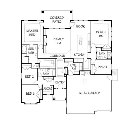 Highland Homes Floor Plans by Floor Plan Details The Riverside Boise Custom Home
