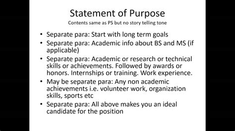 personal statement statement of purpose motivation