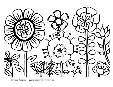 coloring pages summer flowers summer flowers printable coloring pages free large images