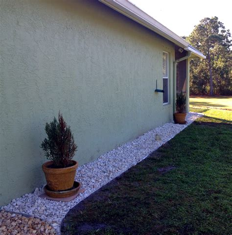 Landscape Rock Around House Low Maintenance Rock Landscaping In Melbourne And Vero