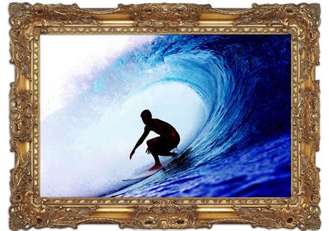 surfer wall mural wave tunnel surfer mural printed wall mural