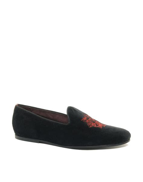 ted baker treep velvet dress shoes in black for lyst
