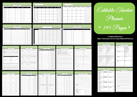 printable planner teacher editable chevron printable teacher planner