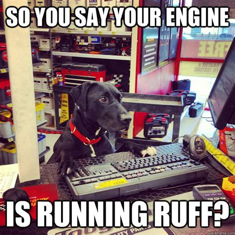 Car Parts Meme - so you say your engine is running ruff auto parts dog