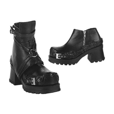 demonia pirate 08 chunky black ankle boots demonia shoes
