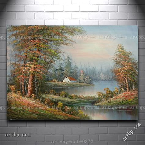 where to buy cheap paint for house oil painting of landscape house trees on field by river cheap paintings canvas acrylic