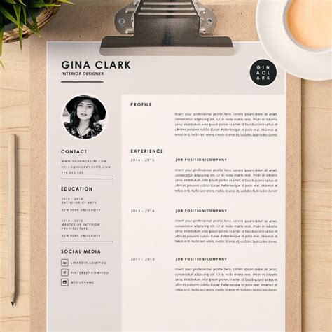 interior design cv template download resume template cover letter template for word diy