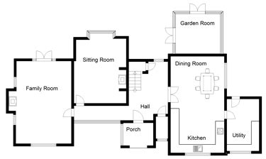 house building plans uk four bedroom uk house plans ground floor dream house pinterest house projects house and