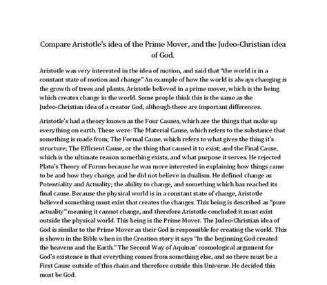 Aristotle Essay by Aristotle And The Four Causes Essay Augustak12 X Fc2