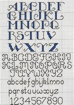 pattern simple request letter cross stitch letter pattern alfabe pinterest cross