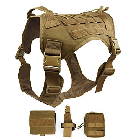 Rompi Tactical Vest Fsbe Molle Improt ultrafun tactical harness with patches pouches handle molle vest for dogs cb l apparel
