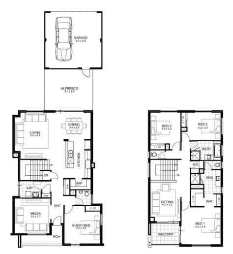4 bedroom story house plan house plan ideas