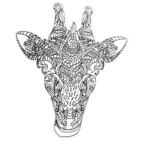 zentangle giraffe coloring pages get this giraffe coloring pages for adults zentangle art