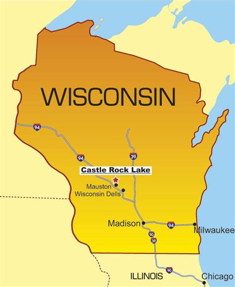 wisconsin lakes map castle rock lake wi maps of wisconsin