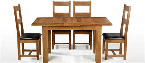 barham oak 120 150 cm extending dining table and 4 chairs
