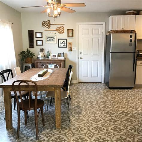 Kitchen Stencils Designs Jazz Up An Kitchen Floor With A Tile Stencil Stencil Stories Stencil Stories