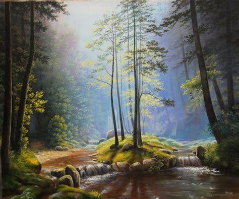 Oleg Bylgakov Artwork Suntrap Original Painting Oil Landscape Paintings