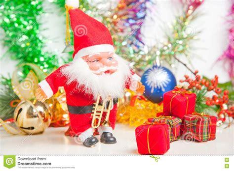 christmas greeting santa sending gifts stock photography