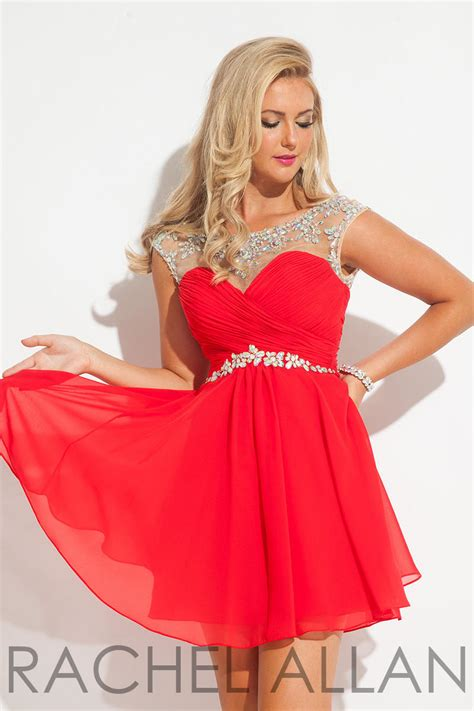Dress Ab allan 6635 homecoming dress with ab stones