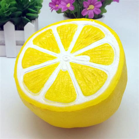 simulation big lemon squishy soft phone straps cell phone