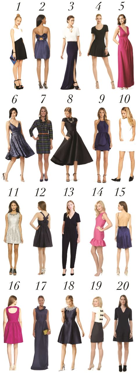 dress guide what to wear to a holiday party design darling