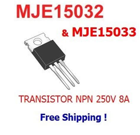 transistor mje 15033 5pcs of mje15032 5pcs of mje15033 transistor 8a 250v industrial scientific