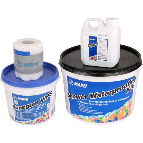 Shower Waterproofing Products by Mapei Shower Waterproofing Kit Toolstation