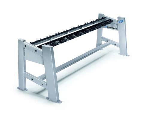 dumbbell bench rack nautilus 174 one tier dumbbell rack