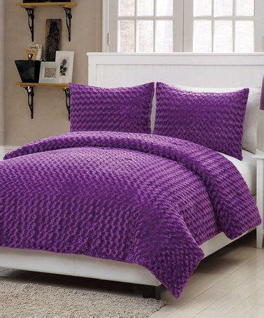 rose fur comforter set take a look at this purple rose fur comforter set by