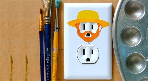 Saklar Dinding wow ada stiker dinding lucu untuk aksesoris listrik
