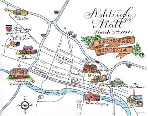 Wedding Invitations Richmond Va by Wedding Map Calligraphy Illustration Richmond Virginia
