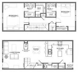 Narrow House Floor Plans Planos On Pinterest