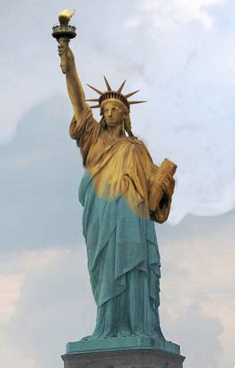 original color of the statue of liberty the original color of the statue of liberty was a dull