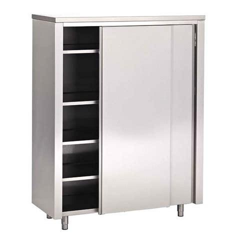 armoire porte coulissante profondeur armoire haute inox portes coulissantes 700 europrojet