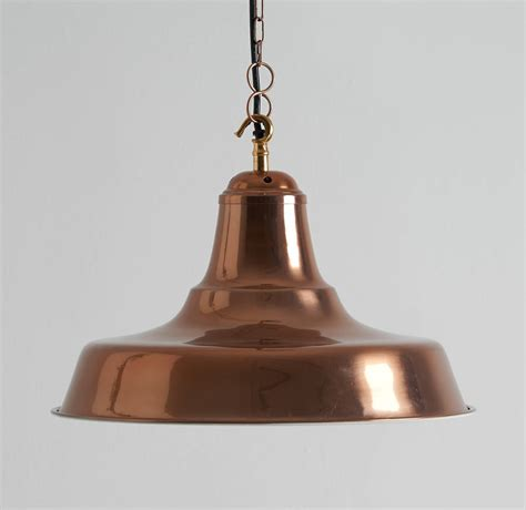 Industrial Rose Gold Pendant Light By Horsfall Wright Gold Pendant Light
