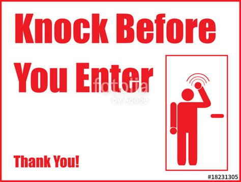 Knock The Door Sign by Quot Knock Before You Enter Quot Stock Image And Royalty Free