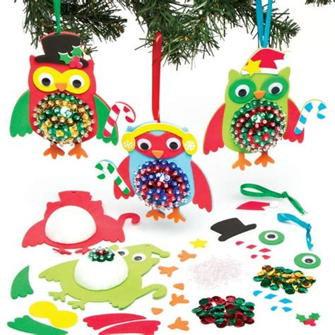 owl christmas decorations craft in the playroom