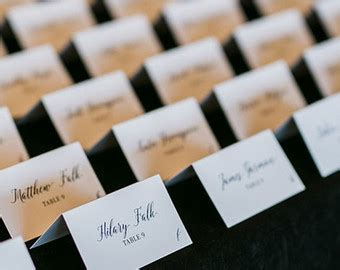 table seating cards custom seating chart etsy
